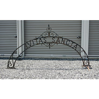 1890s Victorian Iron Archway Gate Driveway Arbor Preview