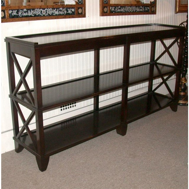 Regency Style Console With Shelving - Image 4 of 8