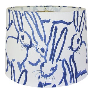 Blue and White Hutch Lamp Shade For Sale