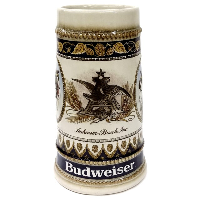 For the beer lover, a very beautifully hand painted beer stein dedicated to Budweiser beer by Anheuser Busch, Inc. Made in...