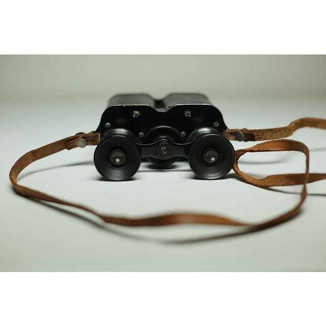Leather Wrapped Binoculars and Leather Case C. 1940-1950s For Sale - Image 10 of 11