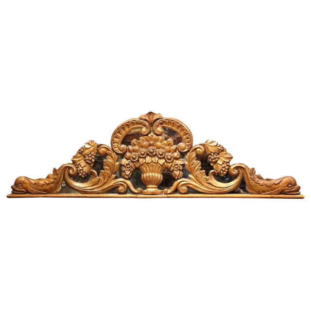 18th Century French Carved Gilt and Glass Wall Hanging For Sale