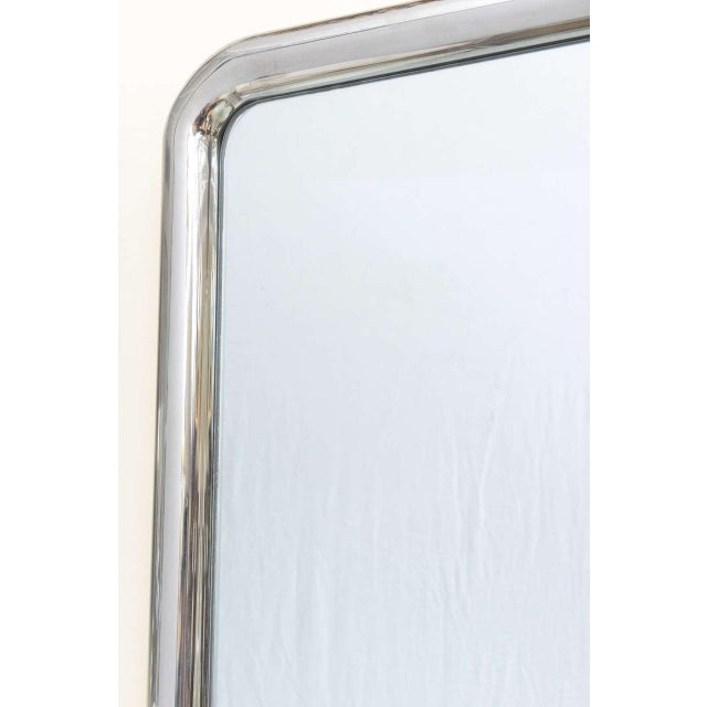 1970s Modernist Steel Mirror For Sale - Image 5 of 9
