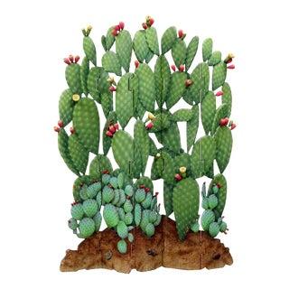 David Zweifel Functional Art Folding Screen Flowering Cactus For Sale