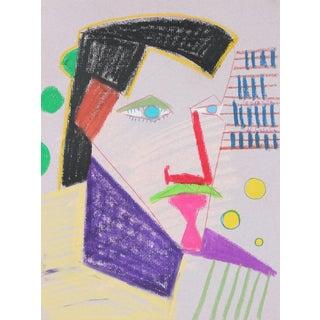 Michael DI Cosola Surrealist Portrait in Pastel, 1972 1972 For Sale