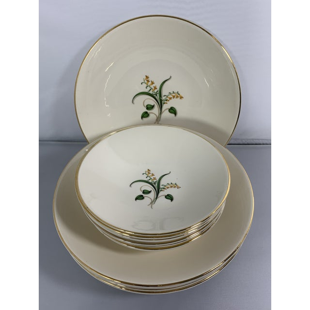 Vintage Forsythia Pattern by Edwin Knowles China Company Dinnerware - 47 Piece For Sale - Image 9 of 13