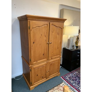 Vintage Pine Computer Armoire Preview