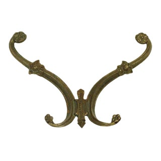 1920s Era Brass Hook For Sale