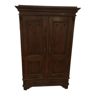 English Country Antique Walnut Wardrobe