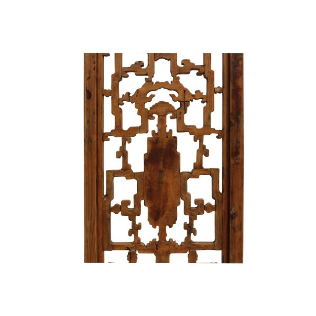 Chinese Vintage Light Brown Relief Motif Wood Wall Hanging Art For Sale - Image 9 of 11