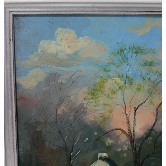 """Vintage Oil Painting """"Kentucky Homestead"""" With Coa by Listed Artist John Elliot, Opa. For Sale - Image 4 of 12"""