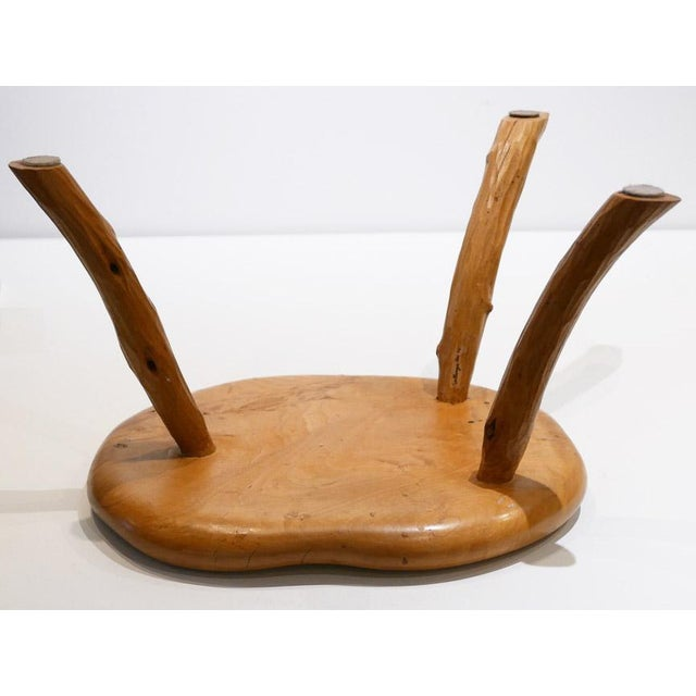 Hand-Made and Signed Sallenger Stool For Sale - Image 4 of 6