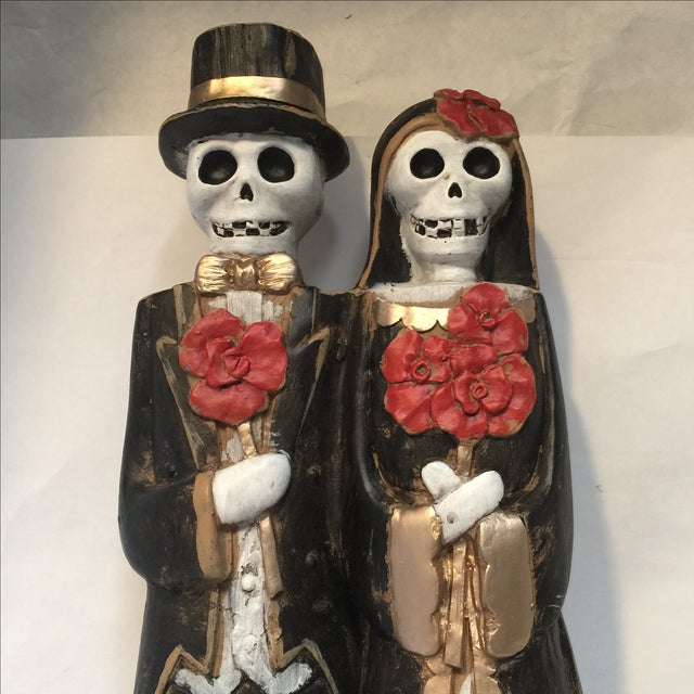 Mid-Century Modern Day of the Dead Bride & Groom Figurine For Sale - Image 3 of 8