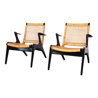 Kurt Østervig Danish Modern Lounge Chairs, Pair For Sale