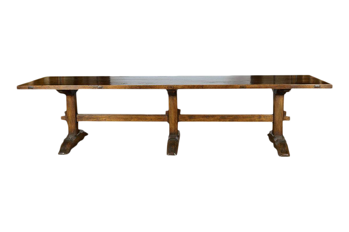 Antique Spanish Banquet Table   12 Feet Long For Sale