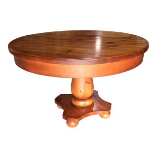 French Pine Round Table For Sale