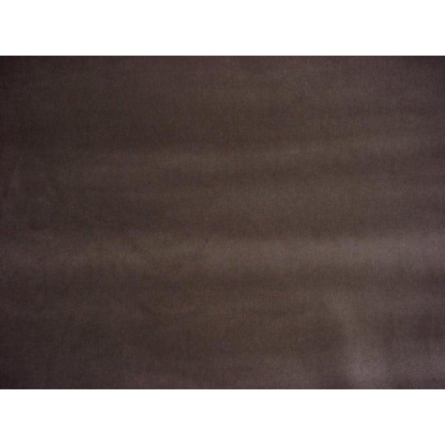 Andrew Martin Andrew Martin Pelham Taupe Velvet Upholstery Fabric - 10-5/8 Yards For Sale - Image 4 of 5