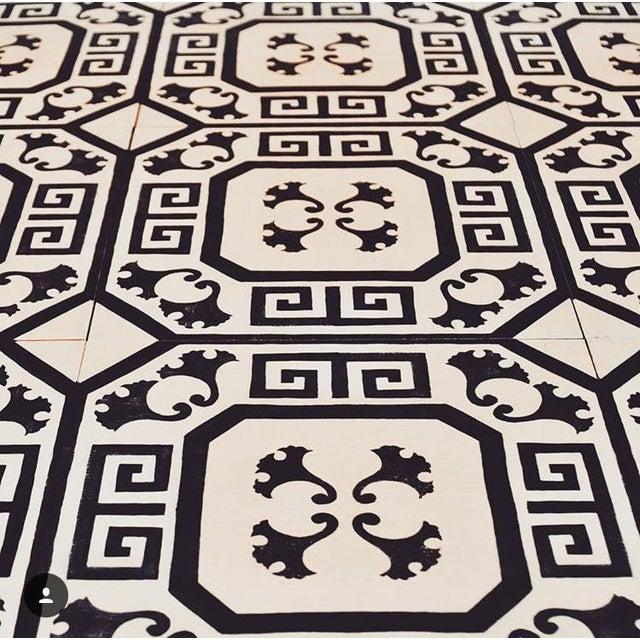 Contemporary Celerie Kemble Gingko Ink Hardwood Tile - Sample Tile For Sale - Image 3 of 6