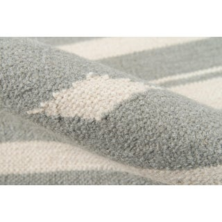 "Erin Gates Thompson Billings Grey Hand Woven Wool Area Rug 7'6"" X 9'6"" Preview"