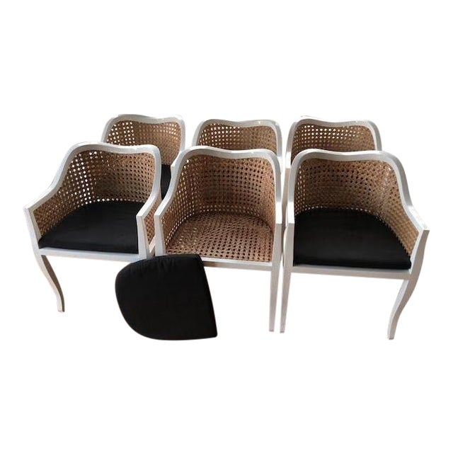 CB2 Tayabas Cane Side Chairs - Set of 6 For Sale
