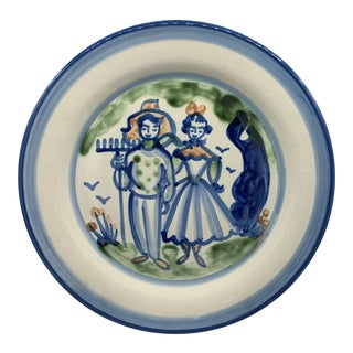 1990s Vintage Ma Hadley's Country Life Round Platter For Sale