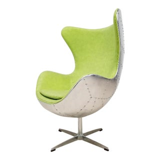 Arne Jacobsen Style Industrial Egg Chair For Sale