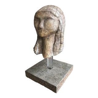 Vintage Modern Sculpture Bust Female Form For Sale
