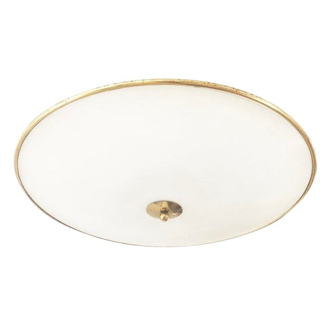 1940s Italian Large Flush Mount Fixture Attributed to Pietro Chiesa For Sale
