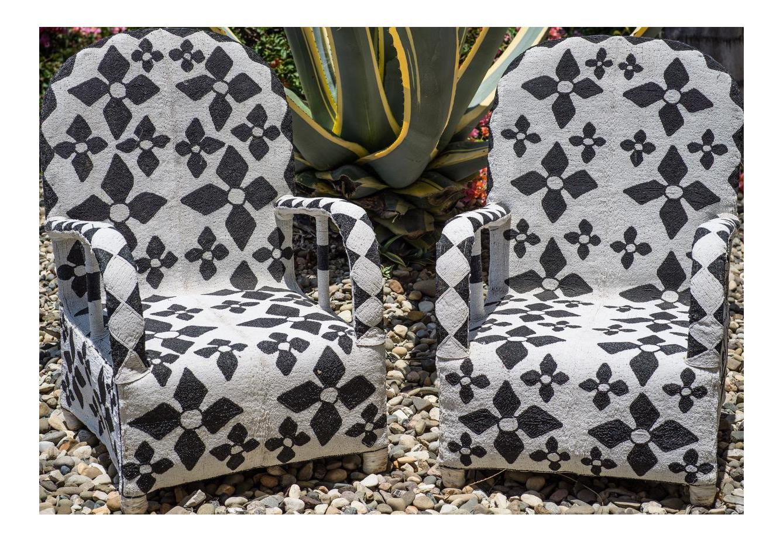 Black U0026 White Yoruba African Hand Beaded Arm Chairs   Image 1 ...