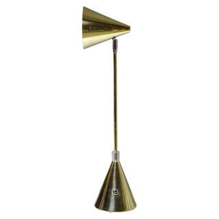 Evolution-I Contemporary Brass Table Lamp For Sale