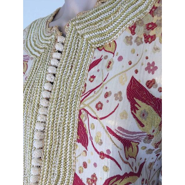 1970s 1970s Metallic Brocade Moroccan Caftan, Kaftan Maxi Dress For Sale - Image 5 of 10