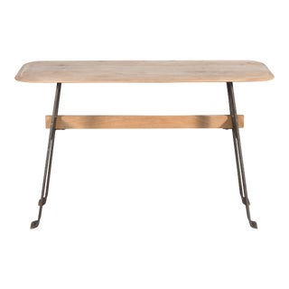 Sarreid Pebble Desk, Lionskin, Iron Base For Sale