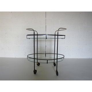 Mid Century Modern Brass Iron & Glass Bar Cart Preview