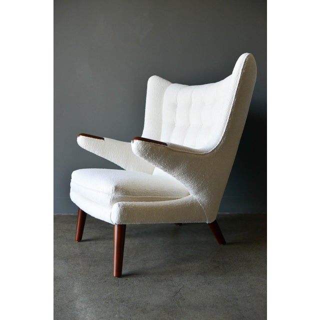 Hans Wegner model AP19 'Papa Bear' chair, circa 1955. Considered one of his finest and most desirable and comfortable...