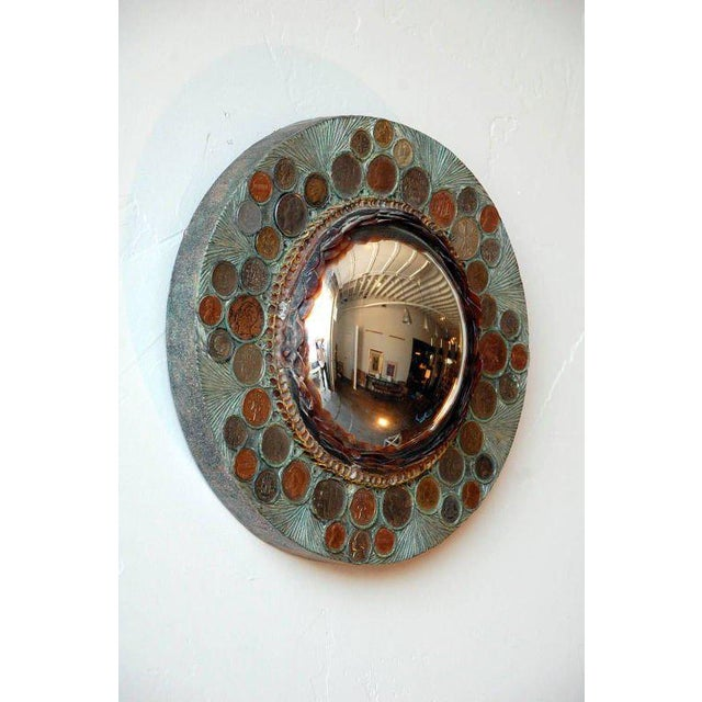Line Vautrin Small Decorative Convex Mirror in the Style of Line Vautrin For Sale - Image 4 of 8