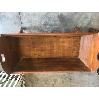 Country Cypress Green / Java Gel Stain Antique Primitive Doughbox Table Preview