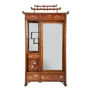 Faux Bamboo Armoire For Sale
