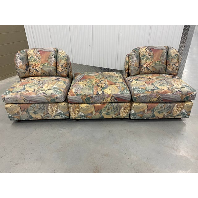 American Palm Beach Style Chairs and Ottoman For Sale - Image 3 of 7