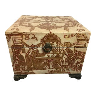 1970s Vintage Chinese Decorative Box For Sale