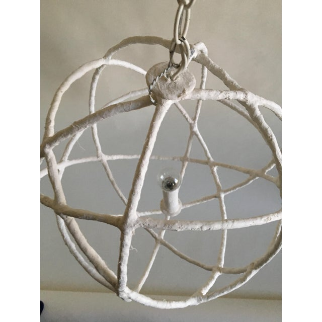 Mathieu Challieres French Plaster Orb Chandelier For Sale - Image 5 of 6