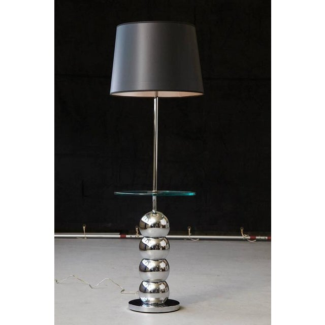 Luxury george kovacs stacked chrome ball floor lamp with integrated george kovacs stacked chrome ball floor lamp with integrated glass table image 7 of 7 aloadofball