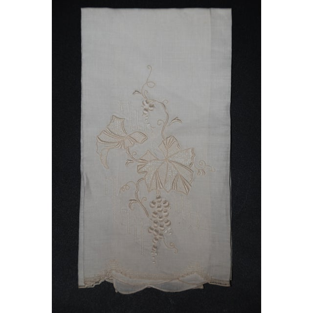 White Vintage Embroidered Tea Towels - Set of 3 For Sale - Image 8 of 8
