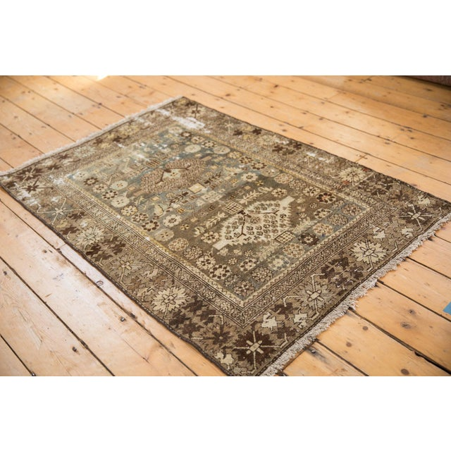 """Vintage Distressed Malayer Rug - 3'3"""" X 4'7"""" For Sale - Image 10 of 11"""