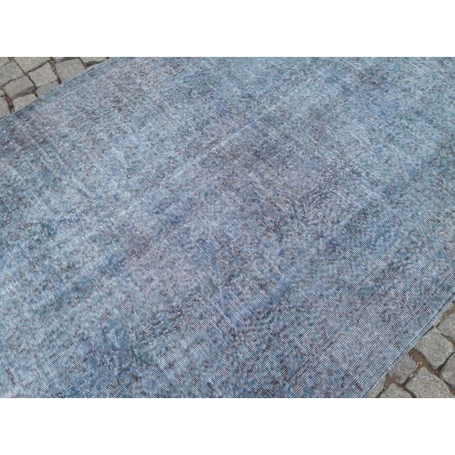 "Turkish Overdyed Patchwork Rug - 5' x 9'1"" For Sale - Image 6 of 6"