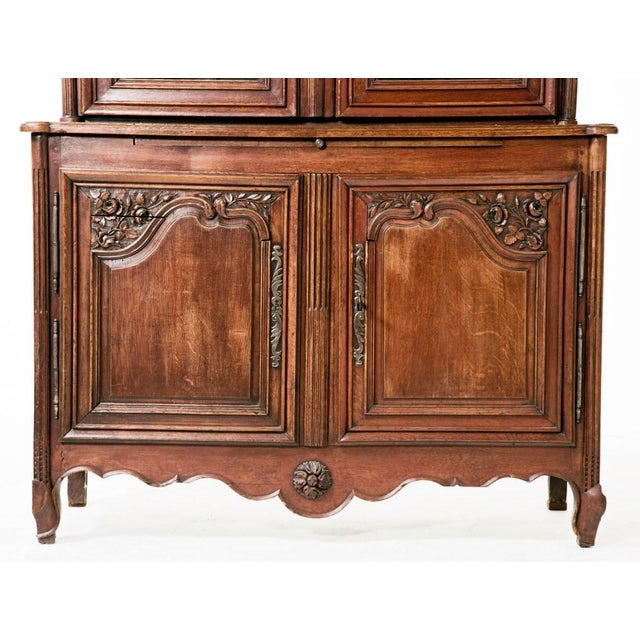 Glass Early 19th century French Oak Cabinet For Sale - Image 7 of 8
