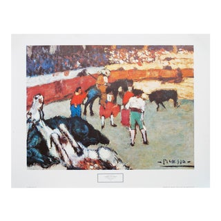 Large Picasso Corrida De Toros, Early 1970s Period Poster From Spain For Sale