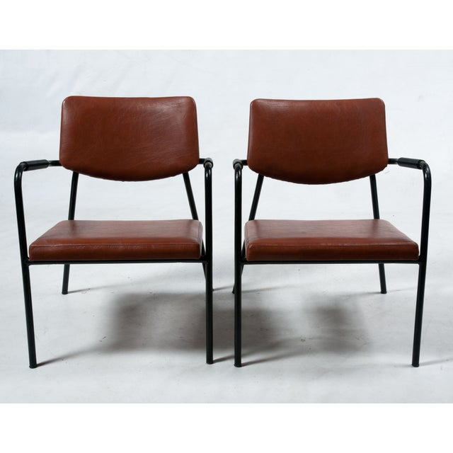 1950s Leather Armchairs - A Pair - Image 2 of 7