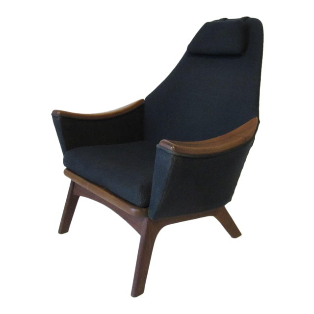 1960s Adrian Pearsall Upholstered Lounge Chair For Sale