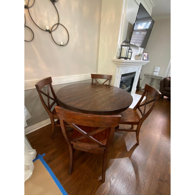 Traditional Traditional Pottery Barn Dining Set - 5 Pieces For Sale - Image 3 of 7