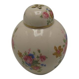 Vintage Ceramic Floral Jar For Sale